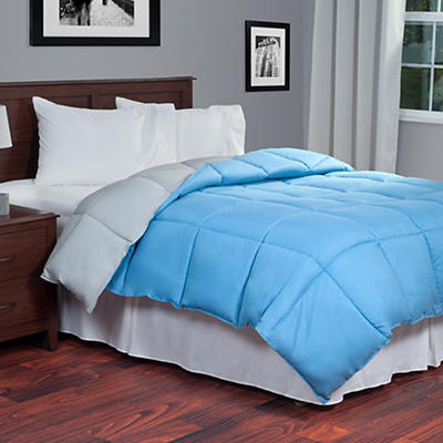 Lavish Home Twin-Size Reversible Alternative Comforter - Blue/Gray