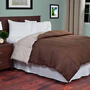 Lavish Home Twin-Size Reversible Alternative Comforter - Chocolate/Taupe