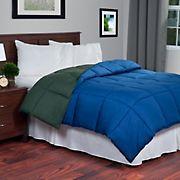 Lavish Home Reversible Alternative Comforter - Green/Navy