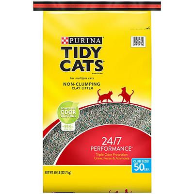 Purina Tidy Cats 24/7 Performance Non-Clumping Clay Litter, 50 lbs.