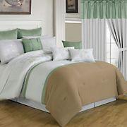 Lavish Home Elizabeth Room-in-a-Bag - Taupe/Sage