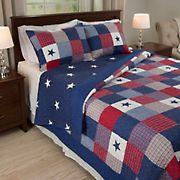 Lavish Home Caroline King-Size 3-Pc. Quilt Set - Red/White/Blue