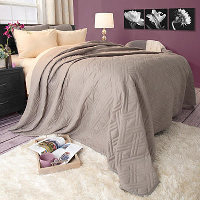 Lavish Home Full/Queen-Size Bed Quilt - Silver