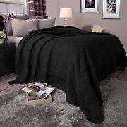 Lavish Home Bed Quilt - Black
