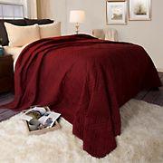 Lavish Home Bed Quilt - Burgundy