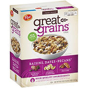 Post Great Grains Raisins, Dates and Pecans, 40.5 oz.
