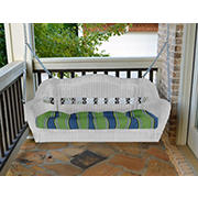 Tortuga Outdoor Portside Porch Swing - White