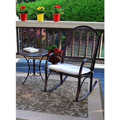 Tortuga Outdoor 2-Pc. Garden Rocker Set - Black