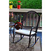 Tortuga Outdoor Garden Rocking Chair - Black