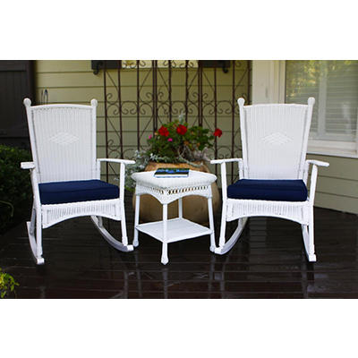 Tortuga Outdoor Portside 3-Pc. Classic Rocker Set - White