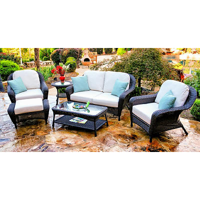 Tortuga Outdoor Richmond 6-Pc. Loveseat Set - Tortoise
