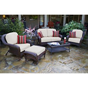 Tortuga Outdoor Richmond 6-Pc. Loveseat Set - Java