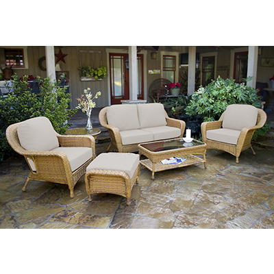 Tortuga Outdoor Richmond 6-Pc. Loveseat Set - Mojave