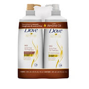 Dove Nutritive Solutions Anti Frizz Oil Therapy Shampoo and Conditioner, 2pk