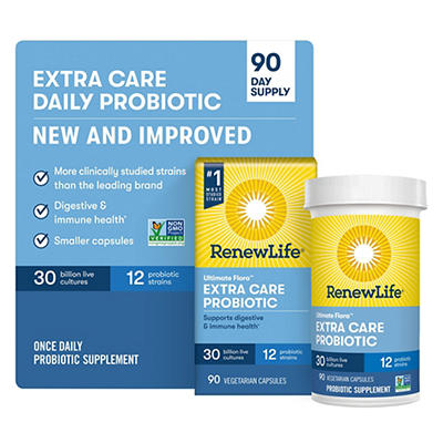 Renew Life Extra Care Ultimate Flora Probiotic, 90 ct.