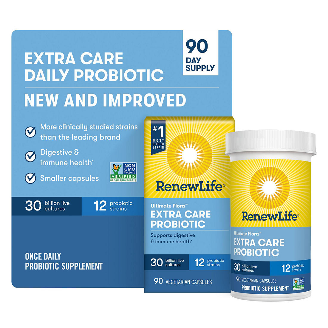 image about Renew Life Coupon Printable known as Renew Everyday living Far more Treatment Best Flora Probiotic, 90 ct.