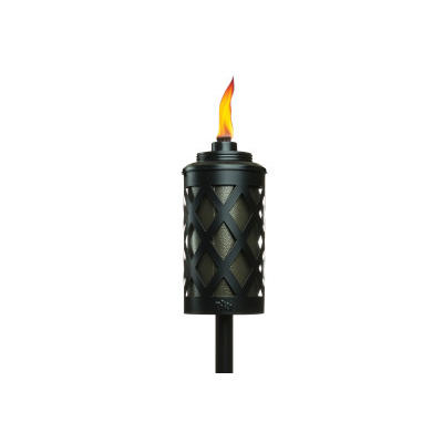 Tiki 3-in-1 Metal Tiki Torch - Black