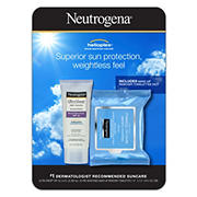 Neutrogena Ultra Sheer Dry-Touch Sunscreen SPF 55, 3 fl. oz. with Makeup Remover Cleansing Towelettes, 25 ct.