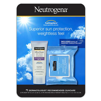 Neutrogena Ultra Sheer Dry-Touch Sunscreen SPF 55, 3 fl. oz. with Make