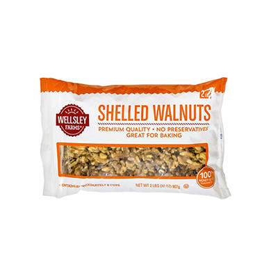 Wellsley Farms Shelled Walnuts, 32 oz.