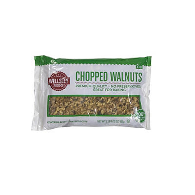 Wellsley Farms Chopped Walnuts, 32 oz.