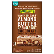 Nature Valley Almond Butter Granola Nut Chocolate Layered Bars, 18 ct./1.38 oz.