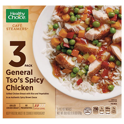 Healthy Choice Cafe Steamers General Tso's Spicy Chicken, 3 pk./10.3 o