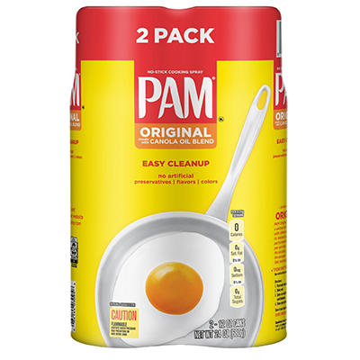 PAM Original No-Stick Cooking Spray, 2 pk./12 oz.