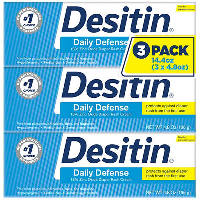 Desitin Rapid Relief Diaper Rash Remedy Cream, 3 pk./4.8 oz.