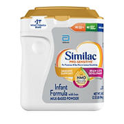 Similac Pro-Sensitive Non-GMO with 2-FL HMO Infant Formula with Iron Powder, 34 oz.