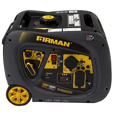 Firman 3,300W Peak/3,000W Rated Gas-Powered Inverter Generator