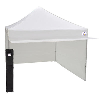 Impact Canopy Alumix 10'L x 10'W Vendor Booth Instant Canopy Kit - Whi