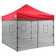Impact Canopy Food Vendor Walls with Service Window - Black