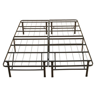 "Contour Rest Dream Support Full Size 14"" Metal Platform Bed Frame - Bl"