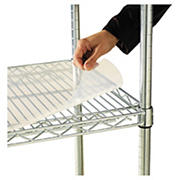 """Alera Shelf Liners for Wire Shelving, 18""""D x 36""""W, 4 pk. - Clear"""
