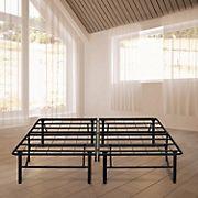 """Contour Rest Dream Support Twin-Size 14"""" Metal Platform Bed Frame - Black"""