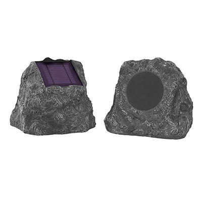 Innovative Technology Solar Bluetooth Outdoor Rock Speakers, 2 pk.