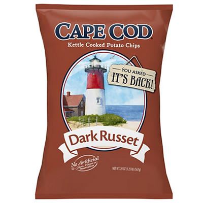 Cape Cod Dark Russet Kettle Cooked Potato Chips, 20 oz.