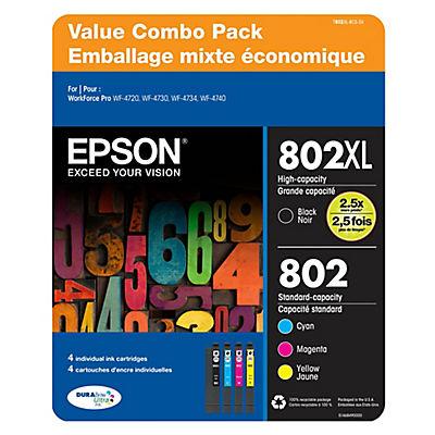 Epson T802 Color Combo Ink Cartridges, 4 pk.