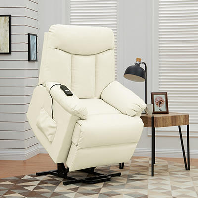 ProLounger Renu Leather Lift Recliner - Cream
