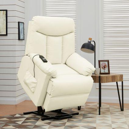 257f9c2f3d0 ProLounger Renu Leather Lift Recliner - Cream - BJs WholeSale Club