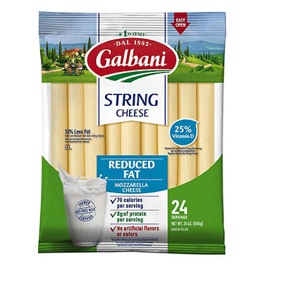 Galbani Reduced Fat Mozzarella String Cheese, 24 ct./1 oz.