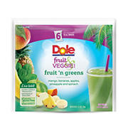 Dole Fruit n Greens Fruit & Veggie Blends, 6 pk./8 oz.