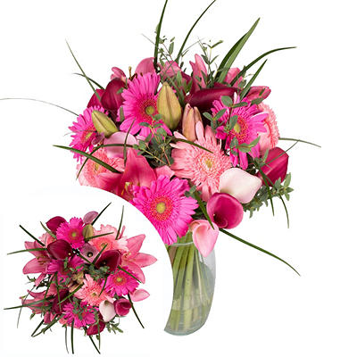 InBloom Pink Possibilities Bouquet, 33 Stems