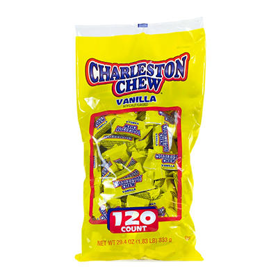Charleston Chews Vanilla Snack Size Pack, 120 ct.