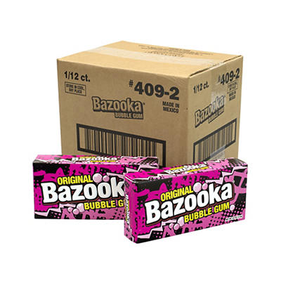 Bazooka Bubble Gum, 12 pk./4 oz.