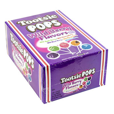Tootsie Pops Wild Berry, 100 ct.