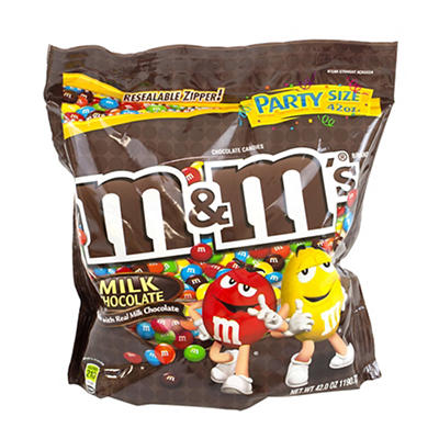 M&M's Milk Chocolate Party Bag, 2 pk./42 oz.