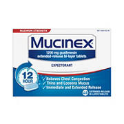 Mucinex Maximum Strength Expectorant, 48 ct.