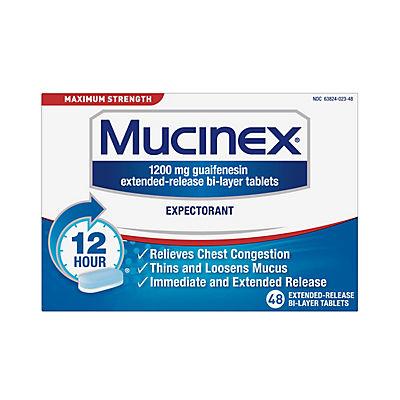 Mucinex Maximum Strength Expectorant, 48 ct.